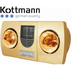 Đèn sưởi Kottmann 2 bóng có quạt K2B-HW-G(vàng)