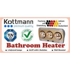Giá Đèn Sưởi Nhà Tắm Kottmann Loại 3 Bóng Vàng – Làm Nóng Tăng Nhiệt Độ Giữ Âm Cho Phòng Tắm Vào Mùa Đông