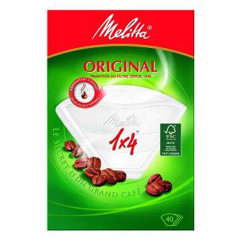 Giấy lọc cà phê Melitta 1X4 - 40 tờ (Trắng)
