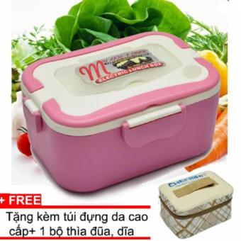 Hộp cơm điện hâm nóng Chefman ruột inox (Hồng) + Tặng 1 túi da caocấp, kèm thìa, dĩa, đũa - 8095434 , CH576HAAA5OR1BVNAMZ-10430925 , 224_CH576HAAA5OR1BVNAMZ-10430925 , 589000 , Hop-com-dien-ham-nong-Chefman-ruot-inox-Hong-Tang-1-tui-da-caocap-kem-thia-dia-dua-224_CH576HAAA5OR1BVNAMZ-10430925 , lazada.vn , Hộp cơm điện hâm nóng Chefman ruột