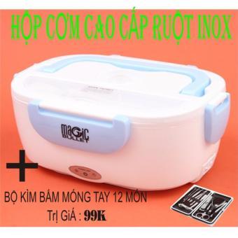 Hộp cơm điện ruột INOX hâm nóng thức ăn (Xanh lá nhạt) + Kìm bấmmón tay 12 món - 8797886 , TU756HAAA2XKAZVNAMZ-5073710 , 224_TU756HAAA2XKAZVNAMZ-5073710 , 590000 , Hop-com-dien-ruot-INOX-ham-nong-thuc-an-Xanh-la-nhat-Kim-bammon-tay-12-mon-224_TU756HAAA2XKAZVNAMZ-5073710 , lazada.vn , Hộp cơm điện ruột INOX hâm nóng thức ăn (Xanh