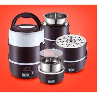Hộp cơm hâm nóng cắm điện đa năng 3 tầng Inox Meiyun ( Nâu Đen) - 8260666 , ME142HAAA3228AVNAMZ-5322867 , 224_ME142HAAA3228AVNAMZ-5322867 , 656000 , Hop-com-ham-nong-cam-dien-da-nang-3-tang-Inox-Meiyun-Nau-Den-224_ME142HAAA3228AVNAMZ-5322867 , lazada.vn , Hộp cơm hâm nóng cắm điện đa năng 3 tầng Inox Meiyun ( Nâu Đ