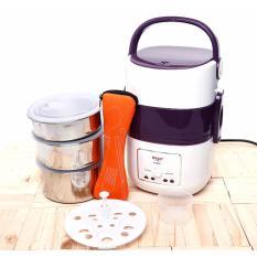 Hộp nấu và hâm nóng cơm lồng Inox 03 tầng Magic Korea A06