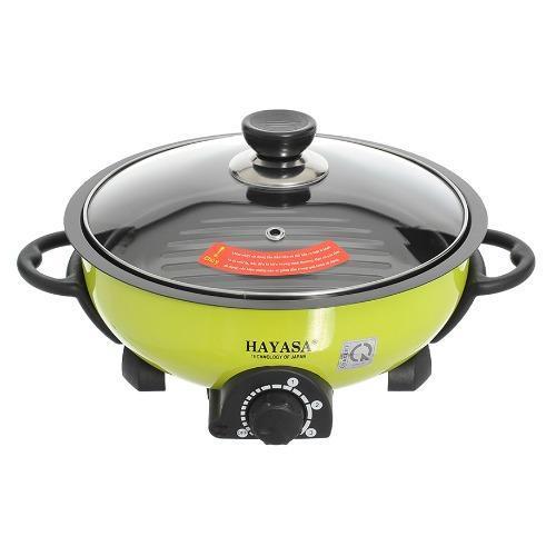 Hình ảnh Lẩu điện nướng hấp đa năng cao cấp 5 lít Hayasa Ha-68