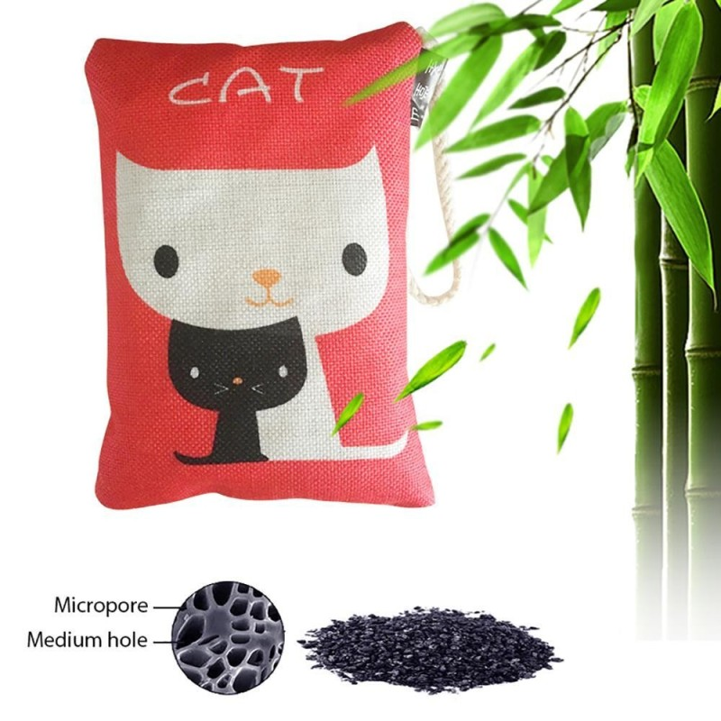Bảng giá leegoal Natural Air Purifying Bag, Activated Bamboo Charcoal Bag Deodorizer, Cotton Linen Cartoon Pattern Unscented Bag For Cars, Furnitures, Houses, 250g/1 Pack - intl