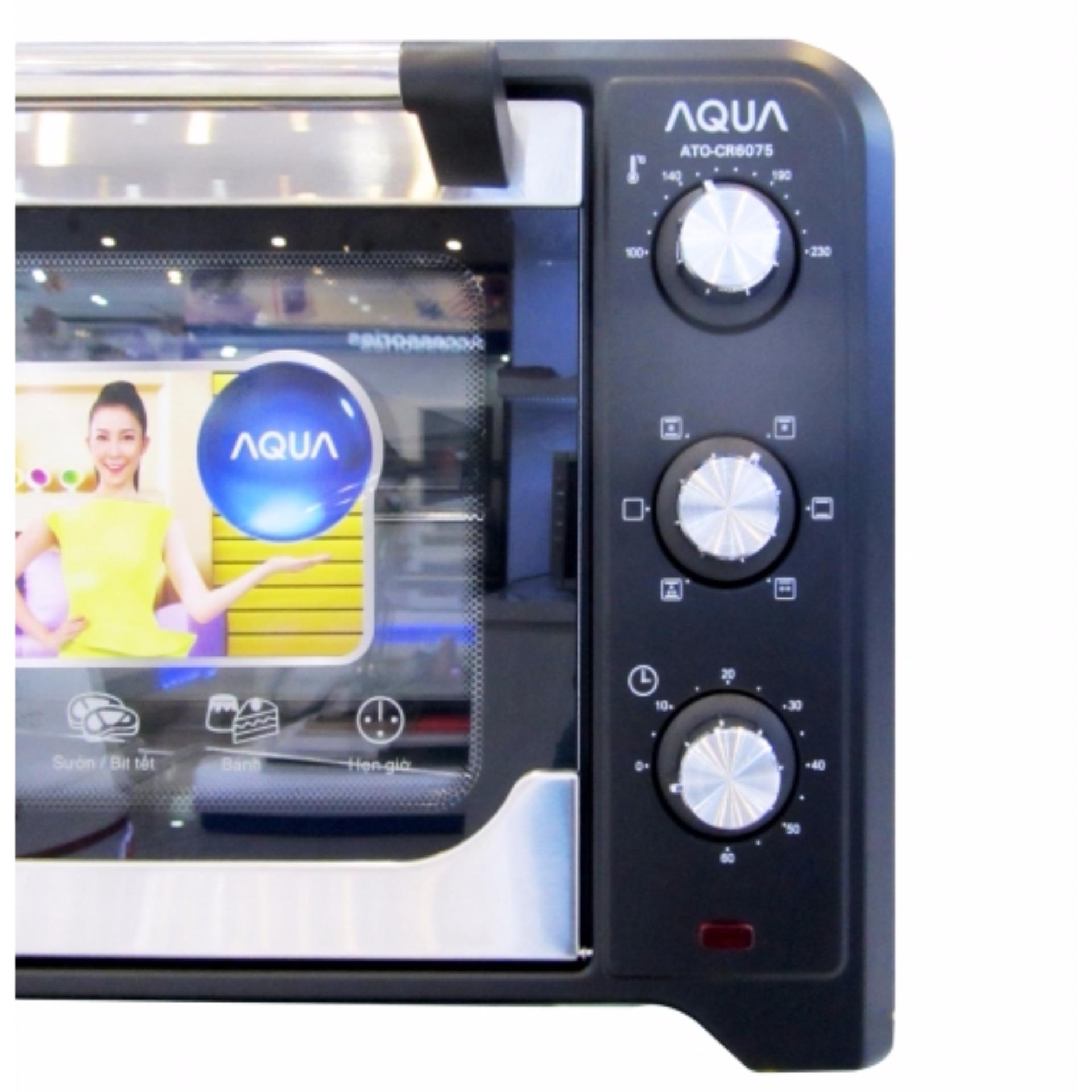 Lò nướng điện AQUA ATO-CR6075 35L (ĐEN)