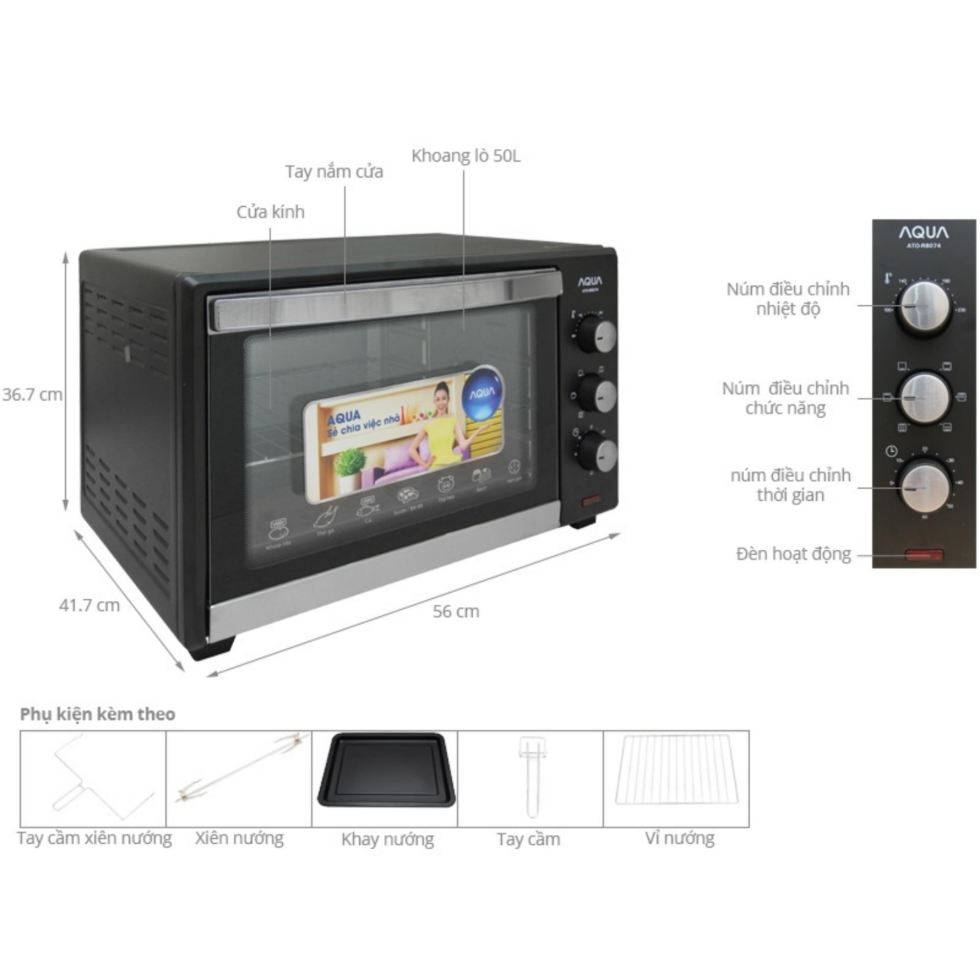 Lò nướng điện AQUA Sanyo ATO-R8074 (45Lit)