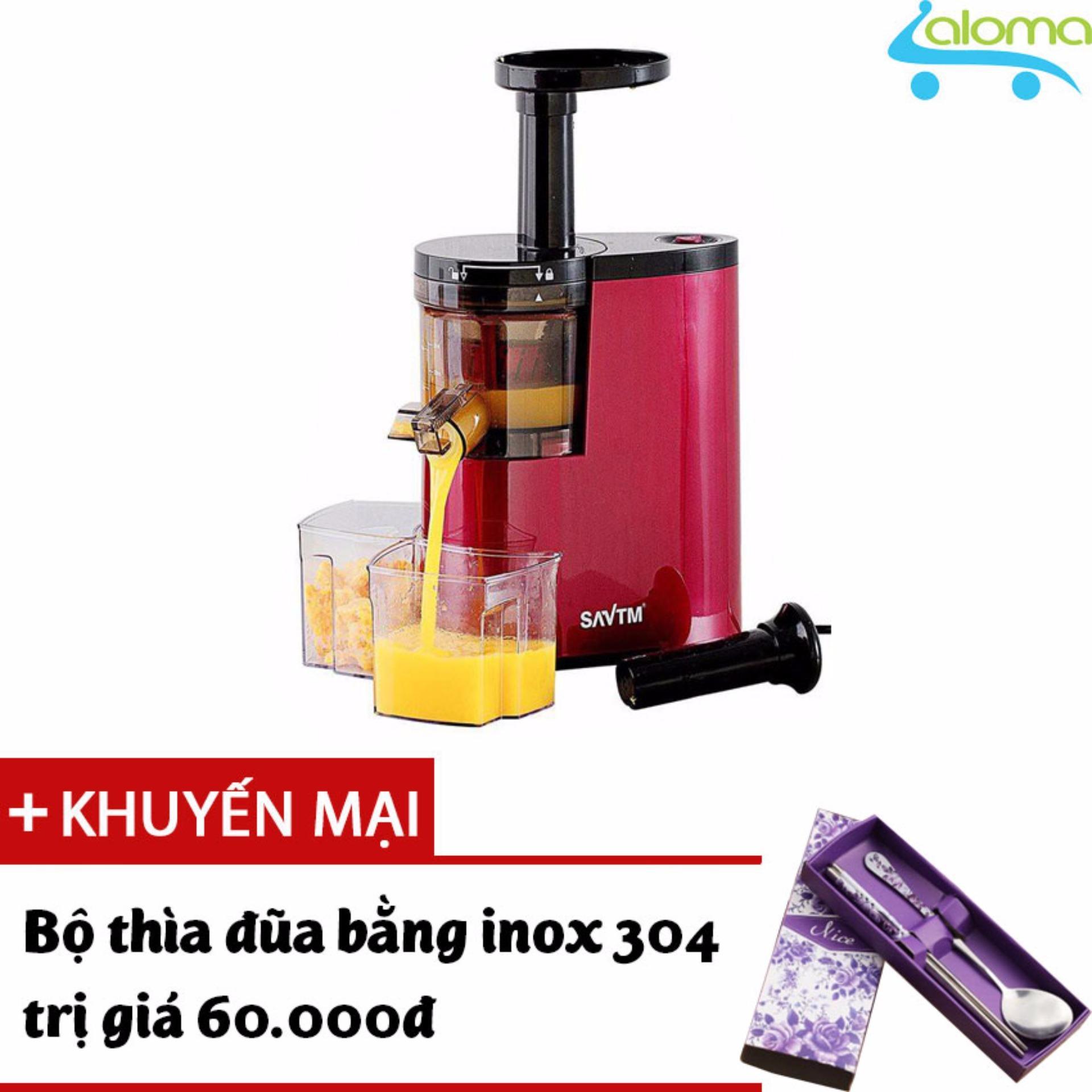 Trang bán Máy ép trái cây cao cấp tốc độ chậm SAVTM 80 vòng/phút JE-07(Đỏ) Tặng bộ thìa đũa Inox