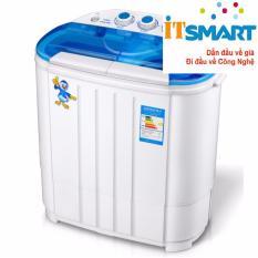 Máy giặt mini 2 lồng giặt kiêm chế độ vắt nhanh