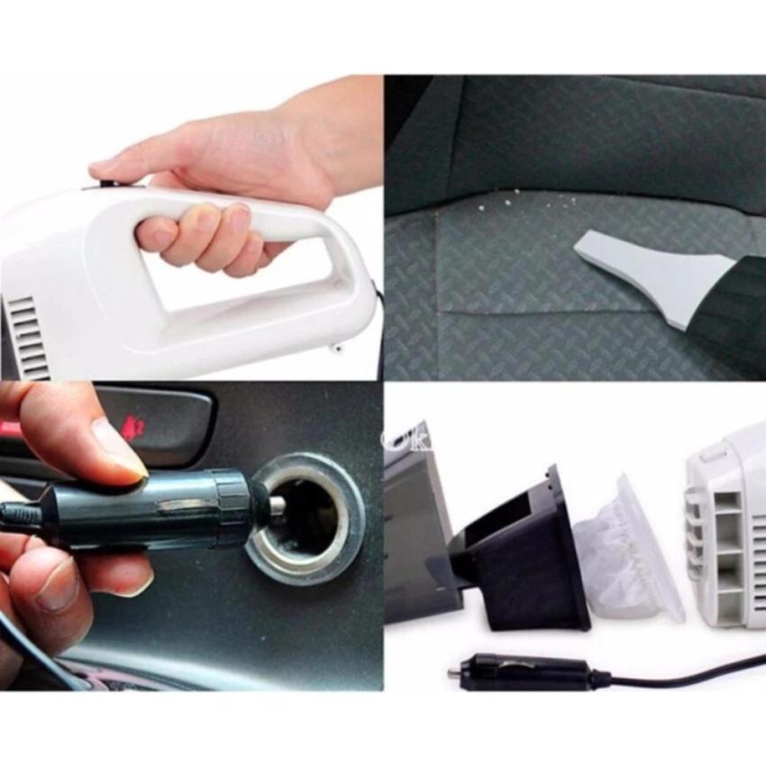 Máy hút bụi xe ô tô cầm tay tiện dụng + Tặng móc khoá huýt sao tìm đồ