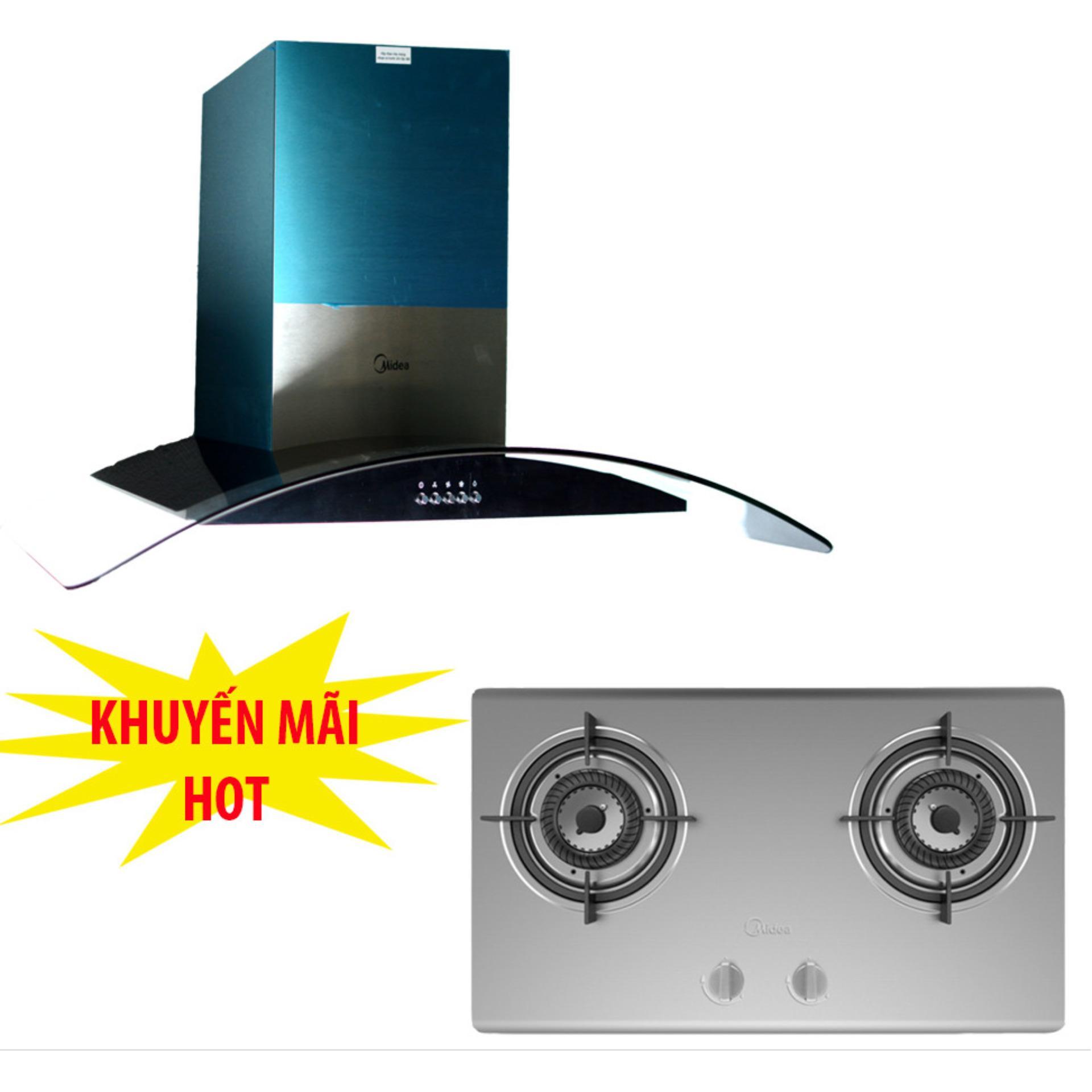 Bảng Giá Máy hút khói Midea E90MEW2V33 (Bạc) + Tặng 01 bếp gas âm Midea MQ7210-S