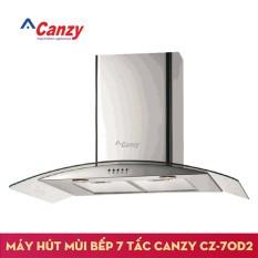 Máy hút mùi bếp kính cong 7 tấc CANZY CZ-70D2 + Kèm Ống bạc giảm ồn lõi thép