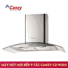 Máy hút mùi bếp kính cong 9 tấc CANZY CZ-90D2 + Kèm Ống bạc giảm ồn lõi thép