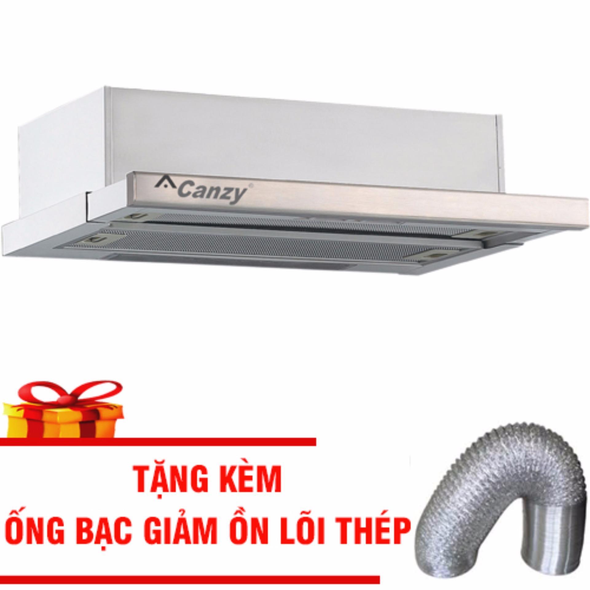 Máy hút mùi Canzy CZ 7002 SYP Nhập Khẩu Cao Cấp Tặng Ống Bạc Giảm Ồn Lõi Thép