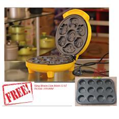 Máy Làm Bánh Hình Thú GDLT01+ Tặng Khuôn Nướng Bánh Chống Dính 12 Ô GDLT
