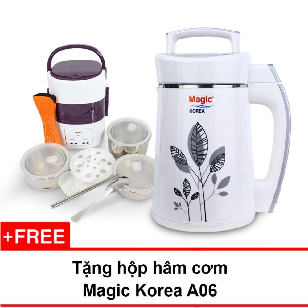 Máy làm sữa đậu nành Magic Korea A68 + Tặng hộp nấu và hâm nóng cơm Magic Korea