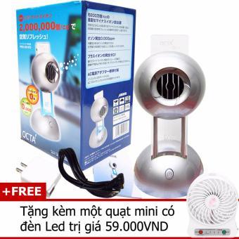 Nơi nào bán Máy lọc không khí tạo Ion Âm OCTA Nhật Bản + tặng kèm một quạt mini USB có đèn led (Màu trắng)