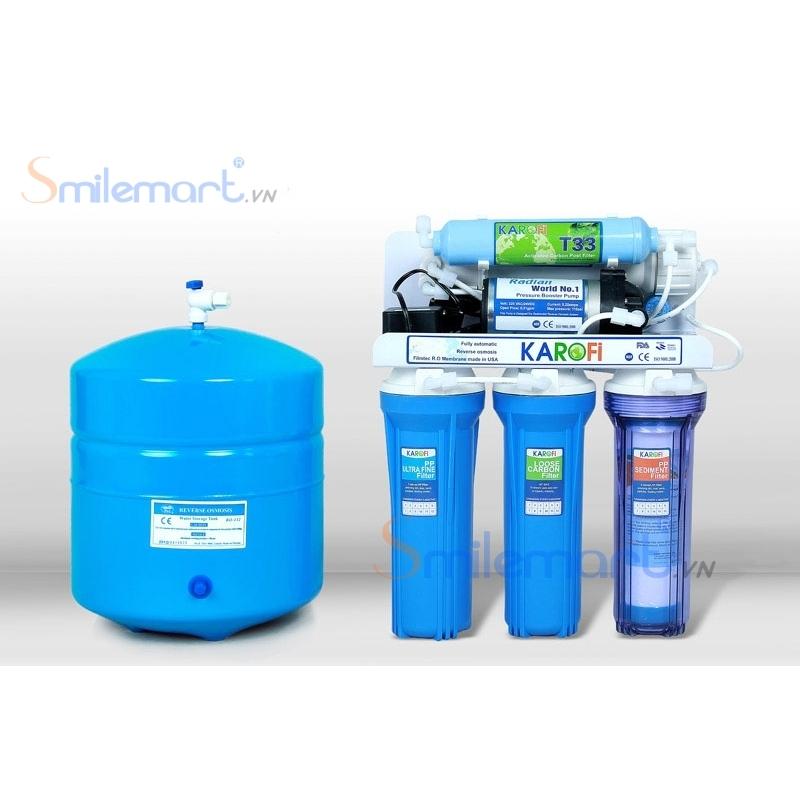 Máy lọc nước Karofi 8 lõi bình áp thép (Không tủ)
