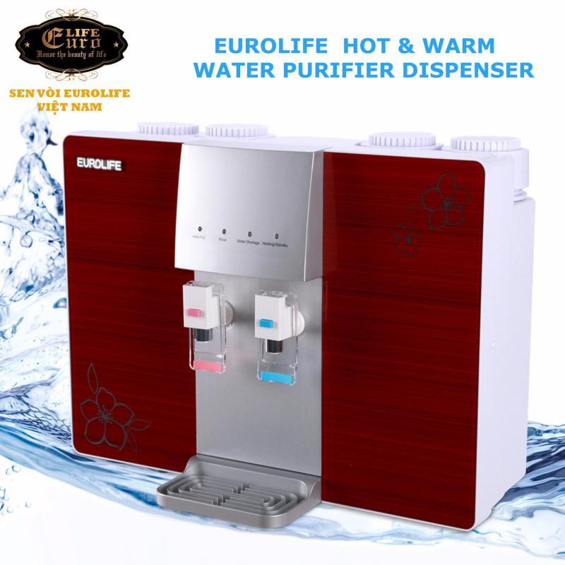 Máy lọc nước RO 5 cấp độ lọc uống trực tiếp, kết hợp máy đun nóng Eurolife EL-RO-730