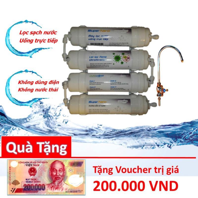 Máy lọc nước Uống trực tiếp Supper Nano 4 Cấp lọc diệt sạch vi khuẩn chất độc