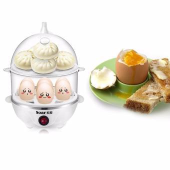 Máy luộc trứng hâm sữa và hấp thức ăn 2 tầng SM507