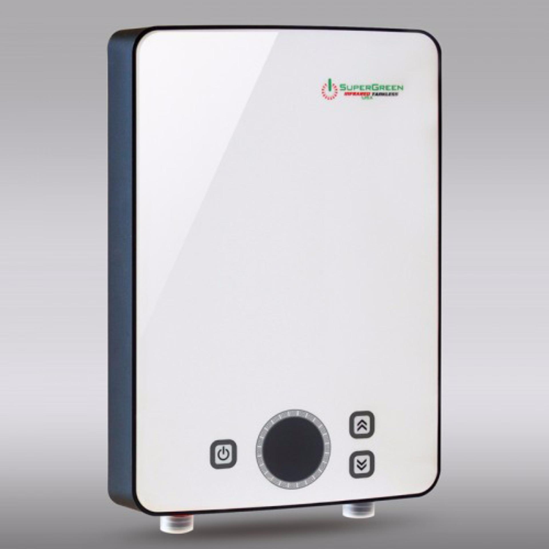 Máy nước nóng hồng ngoại SuperGreen: IR-245 (Trắng) – Hãng phân phối chính thức + Tặng sen tăng áp cao cấp