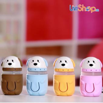 Máy phun sương tạo ẩm mini tích hợp đèn hình chú chó con siêu dễ thương - 3