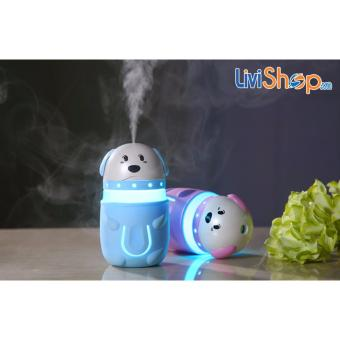 Máy phun sương tạo ẩm mini tích hợp đèn hình chú chó con siêu dễ thương - 4