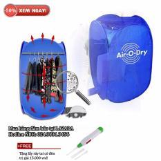 Máy sấy quần áo air o dry 3 trong 1 + Free lấy ráy tai có đèn (Xanh)