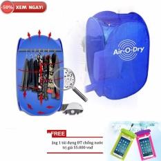 Máy sấy quần áo air o dry giá rẻ + Tặng túi ĐT chống nước (Xanh)