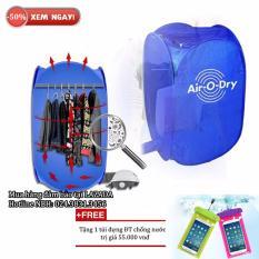 Máy sấy quần áo mini 7kg đa năng + Free túi ĐT chống nước (Xanh)