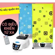 Máy sấy quần áo Panasonic Tiết kiệm 50% điện năng (treo 15kg quần áo) mã HD882F, khung inox,2 tầng, điều khiển từ xa (Sấy nhanh khô.)