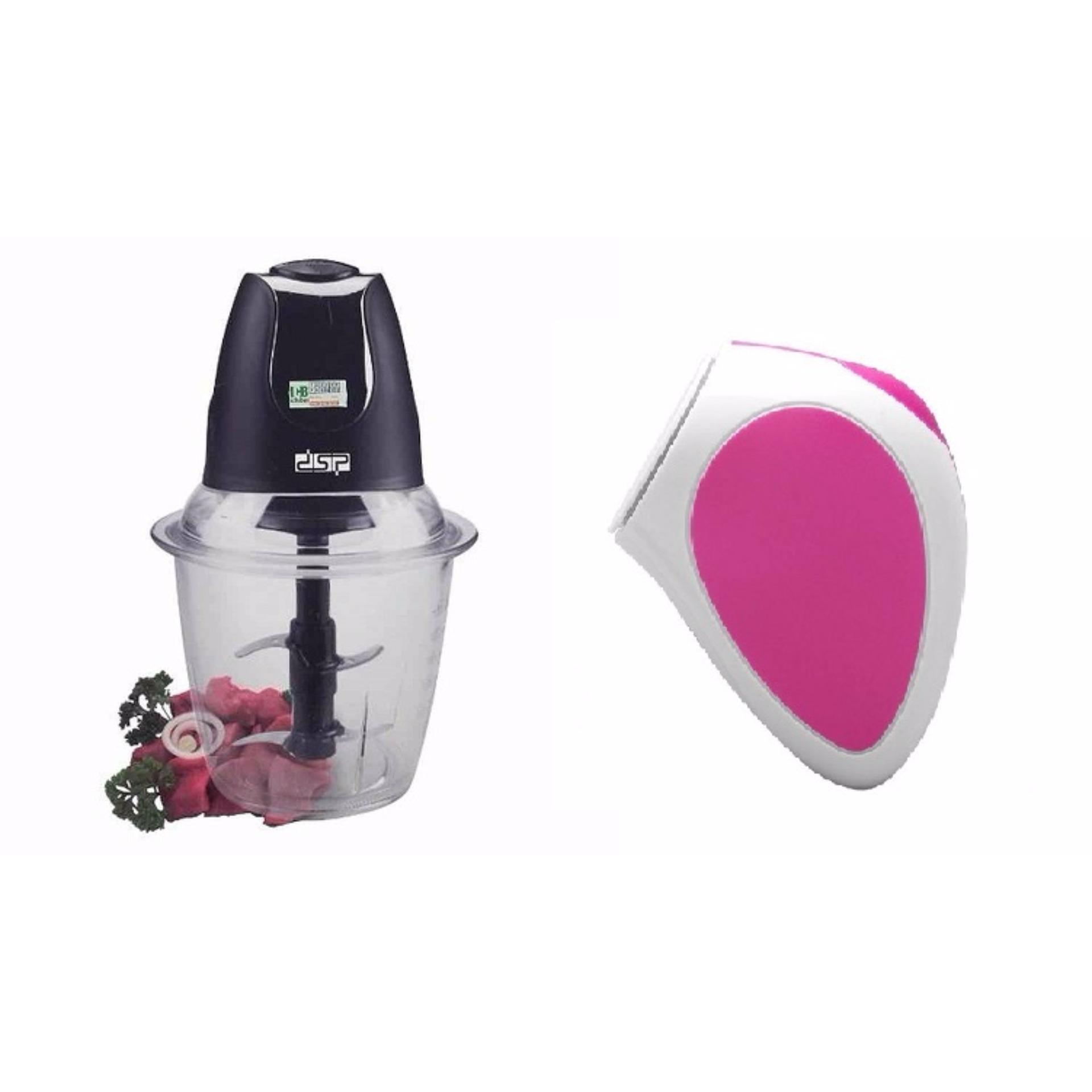 Máy xay thịt cối thủy tinh Food Chopper + Tặng máy massage rửa mặt