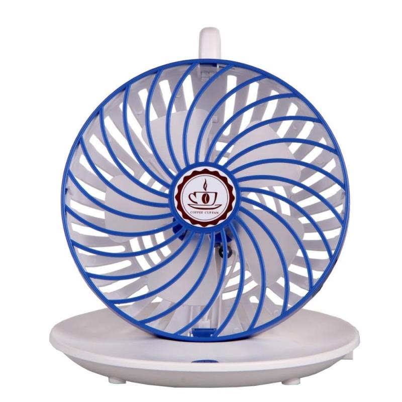 Bảng giá Mini USB Desk Mute USB Hanging Cooler Cooling Fan for Office Home (Blue)