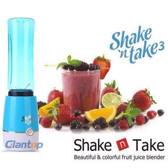 (Msia Power Plug) Shake N Take 3 Smoothie Blender With 2 Sport Bottles Mini Juicers - intl