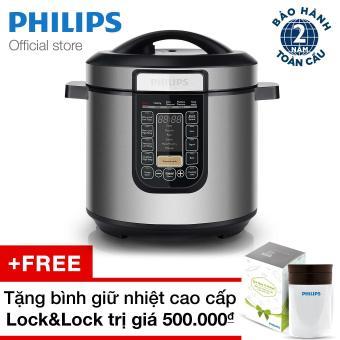 Nồi áp suất đa chức năng Philips HD2137/65 TẶNG Bình giữ nhiệt cao cấp Lock&Lock