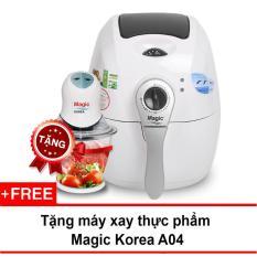 Nồi chiên chân không đa năng Magic Korea A71 2.2L (Trắng) + Tặng 1 máy xay thực phẩm