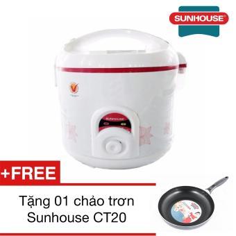 Nồi cơm điện 1.8 lít Sunhouse SHD8625 + Tặng 01 chảo trơn Sunhouse CT20