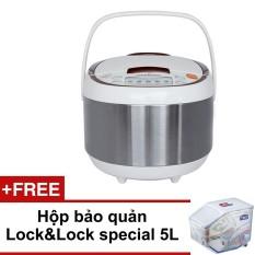 Nồi cơm điện Lock&Lock EJR351BRW 1.8L 860W (Trắng) + Tặng 1 hộp bảo quản Lock&Lock special 5L