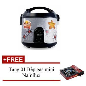 Nồi cơm điện Sharp KS-R19ST 1.8Lít + Tặng 01 Bếp gas mini Namilux 161PF
