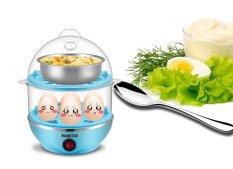 Nồi luộc trứng và hấp thức ăn 2 tầng đa năng Clever Mart 2016 (Xanh)