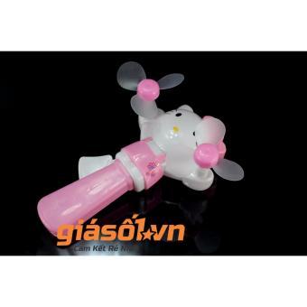 Quạt bóp tay Hello Kitty có đèn nháy cho bé