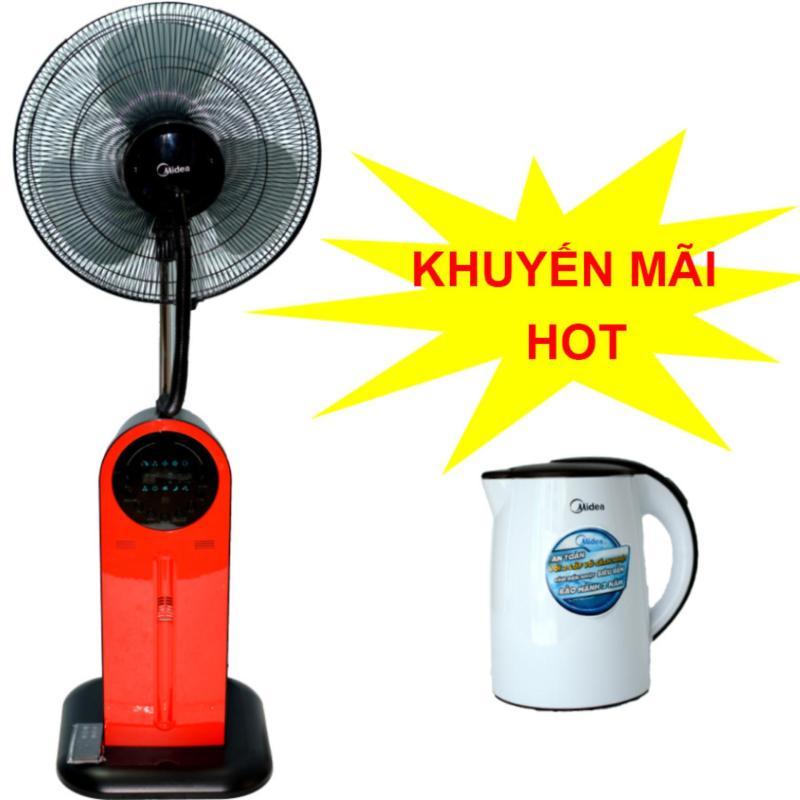 Bảng giá Quạt điện phun sương Midea FS40-13QR có điều khiển  + Tặng bình đun siêu tốc Midea MK-15D trị giá 399,000vnd