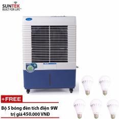 Quạt điều hòa– Máy làm mát không khí công suất cao SUNTEK SL36 Knob + Tặng 5 bóng đèn tích điện 9W