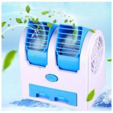 Quạt hơi nước đá Mini Fan để bàn 2 chế độ cực mát(tặng kèm pin+dây usb)