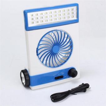 Quạt sạc tích điện cao cấp năng lượng mặt trời tích hợp đèn LED đa năng