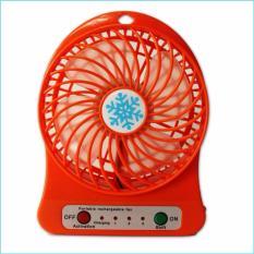 Quạt Sạc Tích Điện USB Mini Fan (Cam)