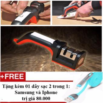 Thiết bị mài dao kéo đa năng cao cấp + Tặng 01 dây sạc điện thoại 2 trong 1 cho Iphone và Samsung