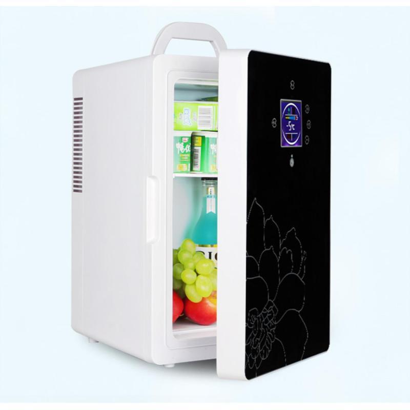 Tủ Lạnh Mini 16L Nguồn 12V Và 220V - Màn Led, Điều Chỉnh Nhiệt Độ Theo Ý (Đen)