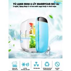 Tủ lạnh mini 6 lít MarryCar 2 chế độ nóng lạnh cho gia đình và ô tô